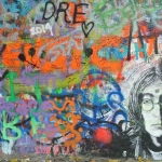 Lennon Peace Wall Close Up
